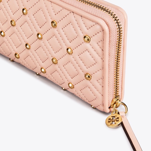 58a3e0f9e7d Tory Burch Fleming Stud Zip Wallet